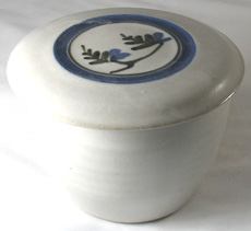 Stony white French Butter Dish
