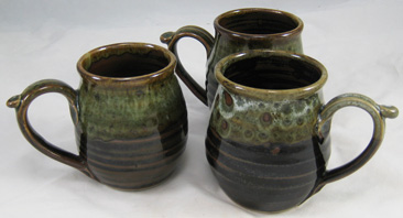 11 oz Mug, Brown and mottled tan
