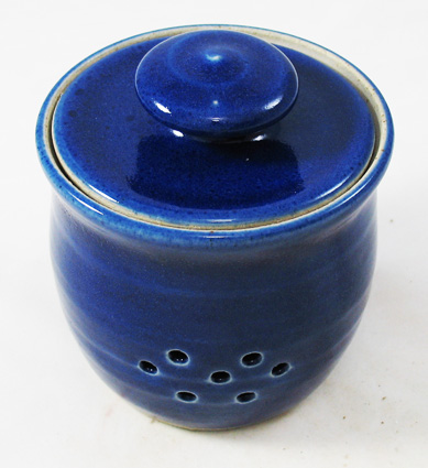 Garlic Keeper, Cobalt Blue