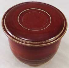 Copper Red French Butter Dish Photo#02