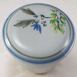 Replacement for sumi-e painted butter dish lid