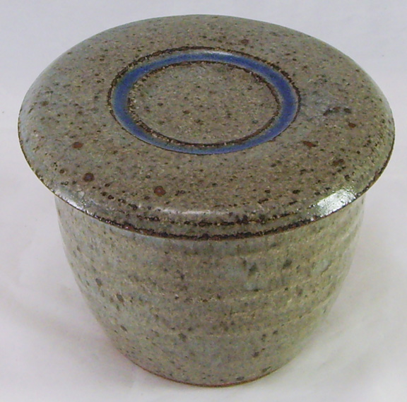 Stony gray with blue French Butter Dish