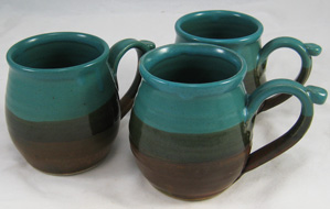 11 oz Mug, Teal and Brown